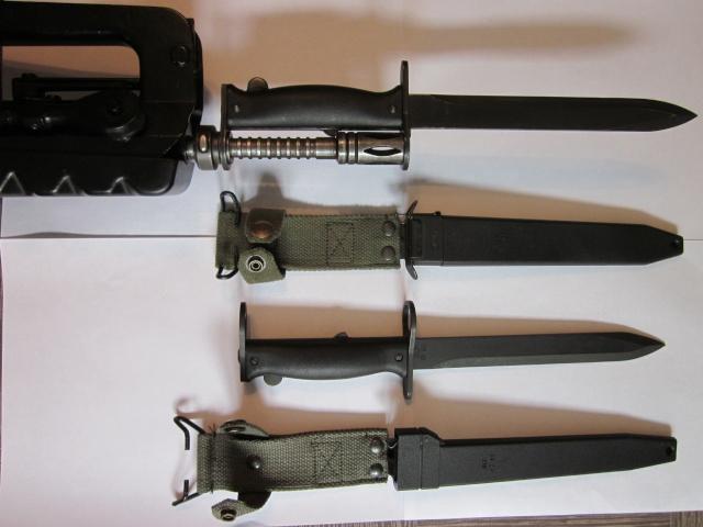 Quelques baïonnettes montées sur leurs armes Img_6615
