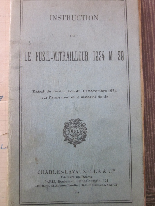 Le Fusil-Mitrailleur de Châtellerault Mle 1924 M29 et accesoires Img_6824