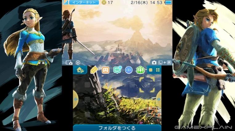 2 Thèmes Botw pour la 3DS au japon. Breath11
