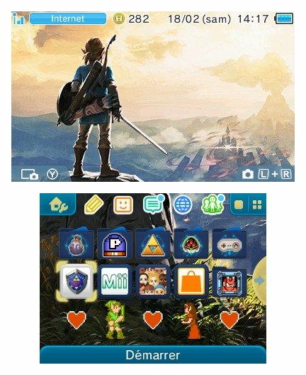 2 Thèmes Botw pour la 3DS au japon. Theme011