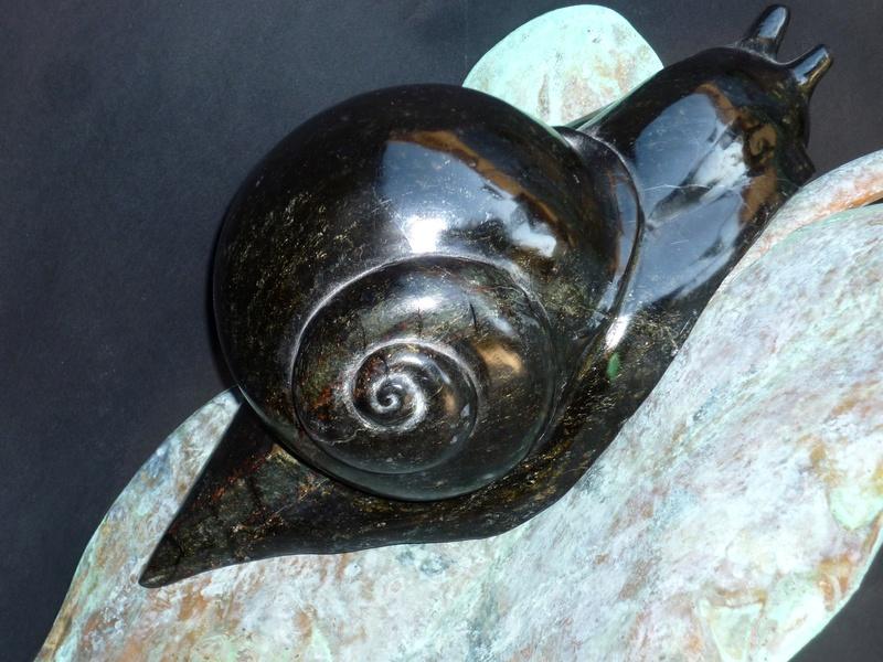 L'arum et l'escargot  (Cuivre / Serpentine ) Pat5 L_arum11