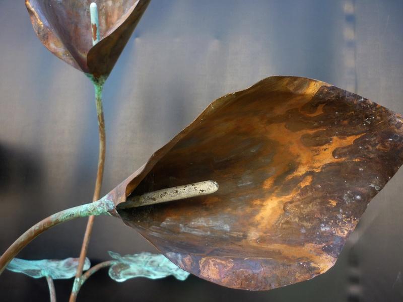 L'arum et l'escargot  (Cuivre / Serpentine ) Pat5 L_arum12