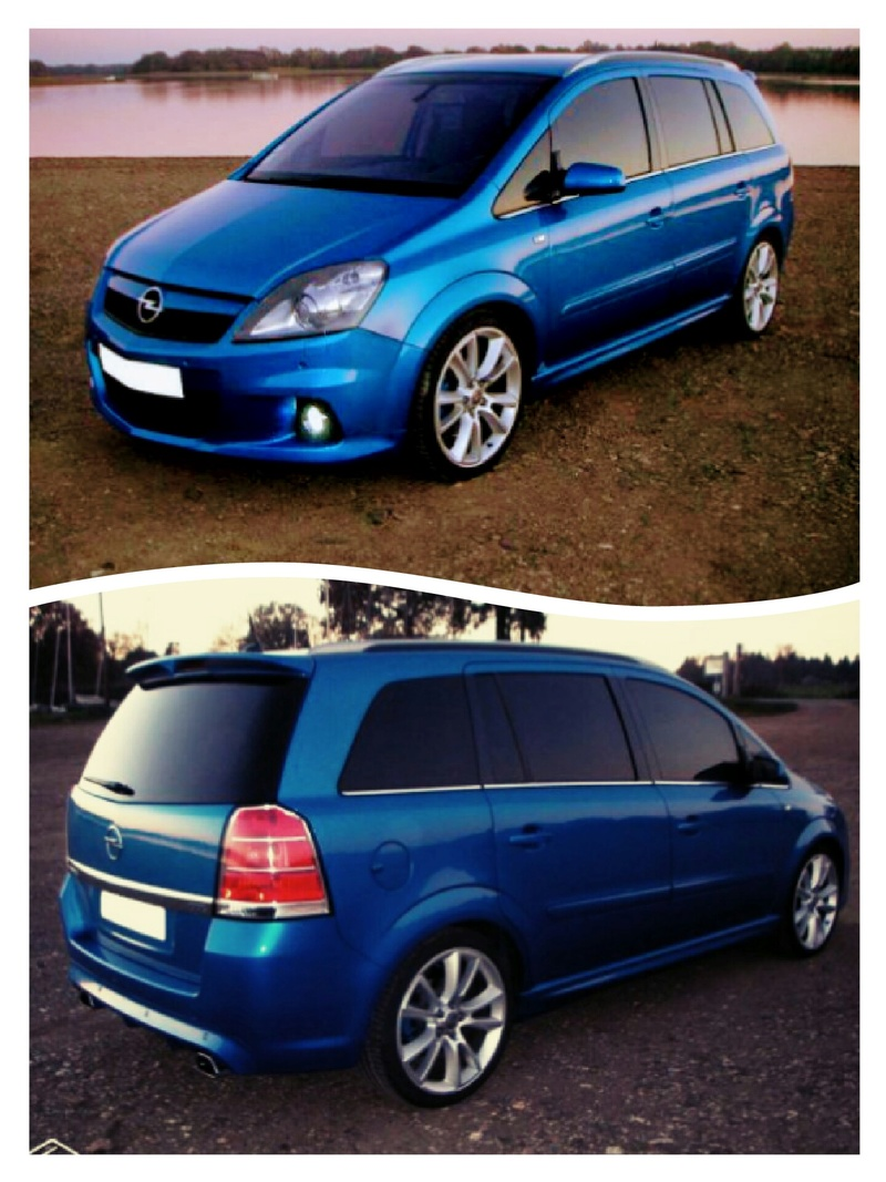 Zafira b opc bleu Bermudes  Collag10