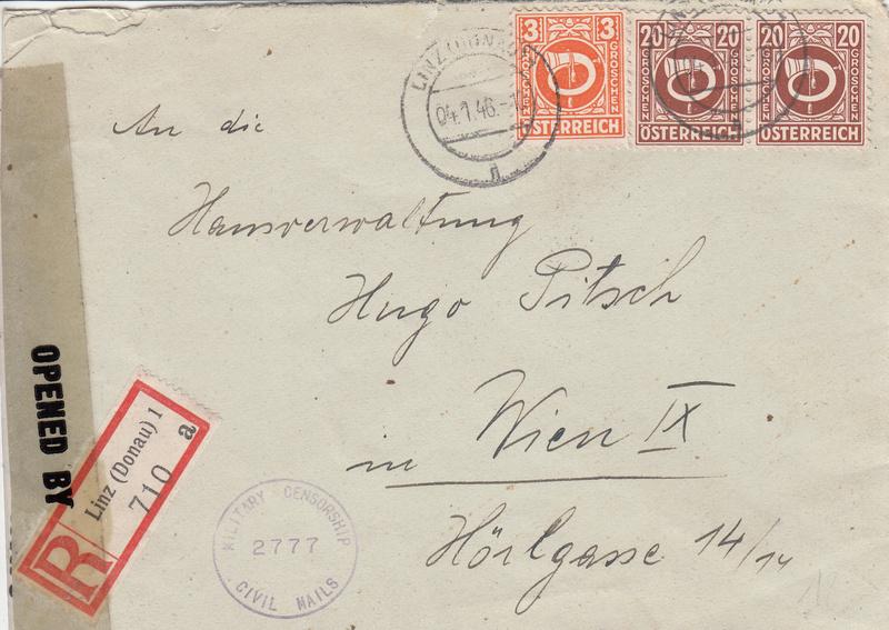 Posthornzeichnung  -  ANK 697-713  -  Belege - Seite 3 Img10