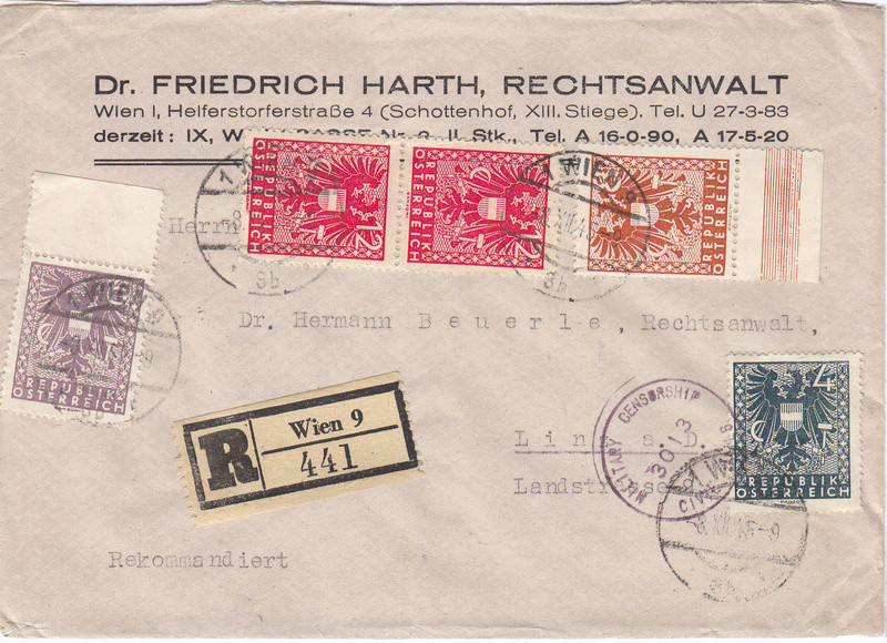 Wappenzeichnung  -  ANK 714-736 - Belege - Seite 4 Img45
