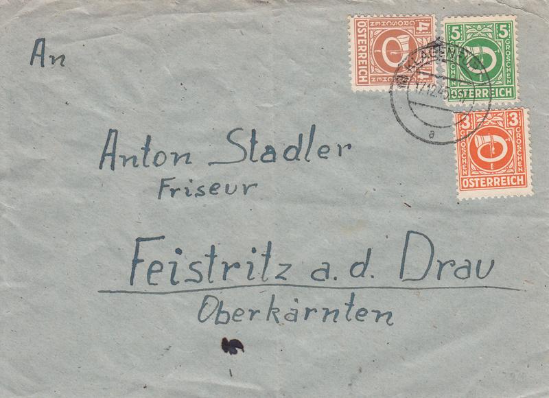 Posthornzeichnung  -  ANK 697-713  -  Belege - Seite 3 Img67