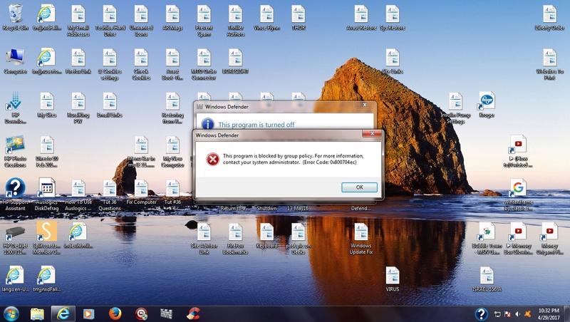 Windows Defender Turned Off Win_de11