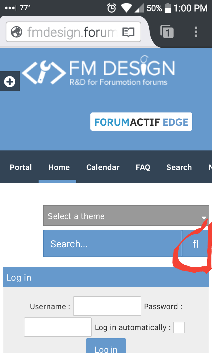 [FA] FA icon not rendering in mobile interface Fmd-bu10