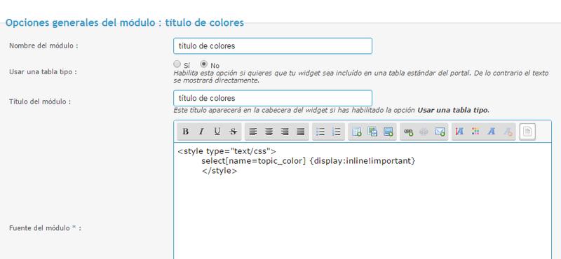 Títulos en colores solo para el Staff Titulo10