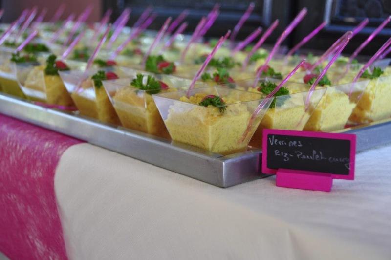 Verrines à la salade de poulet au curry + photo 39646610