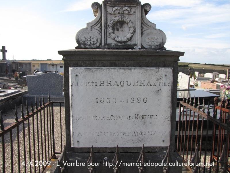 Tombe BRAQUEHAY Auguste fils (1853-1896), bienfaiteur des Hospices de Montreuil Braque11