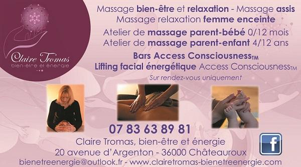 CHATEAUROUX - Claire TROMAS - Bien être et énergie - Massage, relaxation 60010
