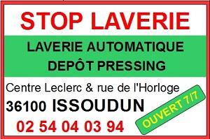 zo30. ISSOUDUN - STOP LAVERIE - Laverie automatique 7/7 jours, dépôt pressing Iss-la12