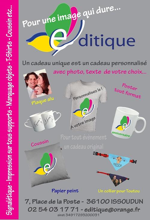 zj11. ISSOUDUN - EDITIQUE - Impression numérique, signalétique, publicité adhésive, flyers    Issoud12