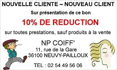 NEUVY-PAILLOUX 36100 - NP COIFF' - Salon de coiffure. Coiffeur hommes, femmes, enfants Neuvy11