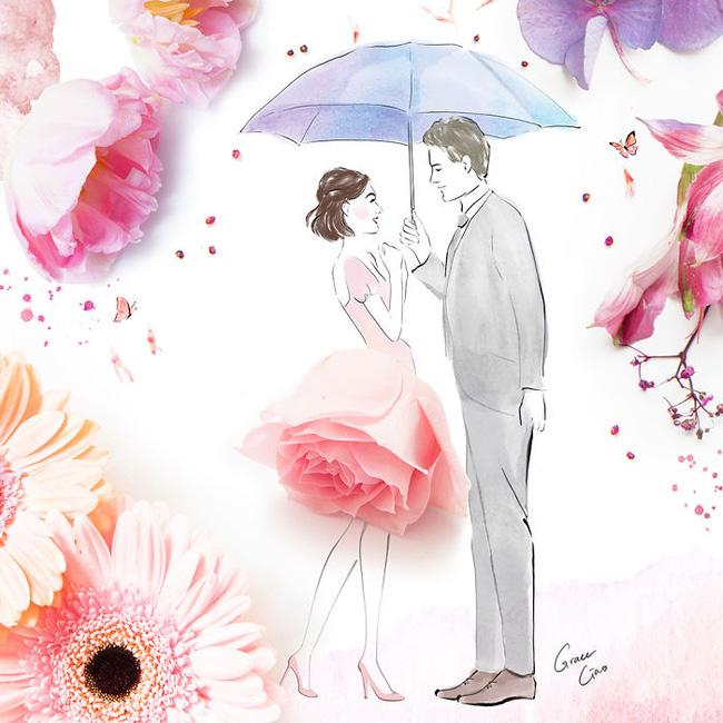 Bộ tranh tình yêu từ những cánh hoa H2-14810