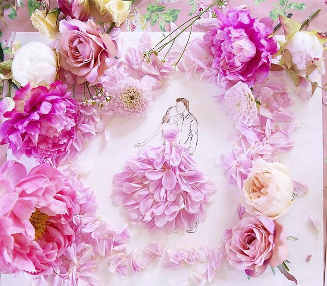 Bộ tranh tình yêu từ những cánh hoa H3-14810