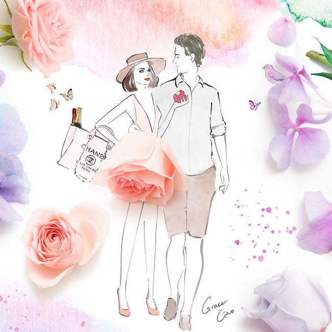 Bộ tranh tình yêu từ những cánh hoa H4-14810