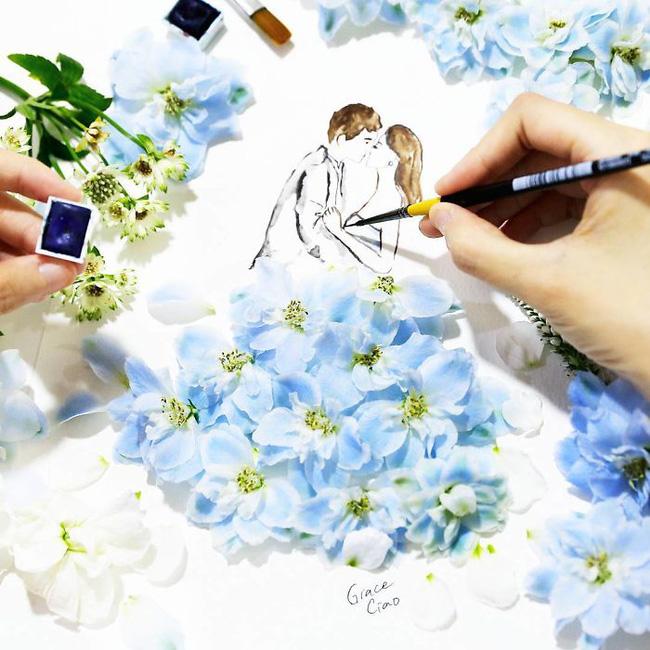 Bộ tranh tình yêu từ những cánh hoa H5-14810