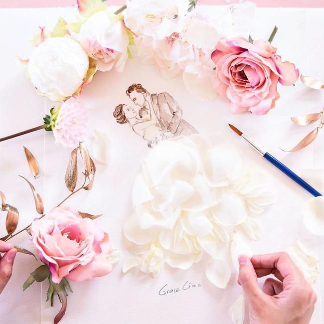 Bộ tranh tình yêu từ những cánh hoa H6-14810