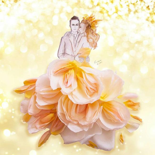 Bộ tranh tình yêu từ những cánh hoa H8-14810