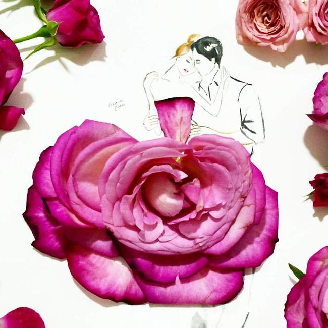 Bộ tranh tình yêu từ những cánh hoa H9-14810