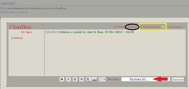 C. Comment utiliser la chatbox  1310