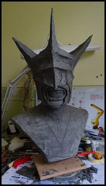 Mouth of Sauron lifesize bust (LOTR) Wip_111