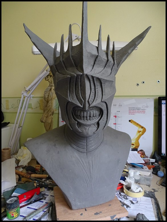 Mouth of Sauron lifesize bust (LOTR) Wip_2111