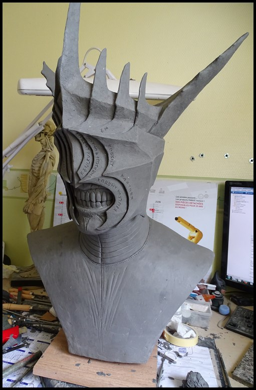 Mouth of Sauron lifesize bust (LOTR) Wip_2710
