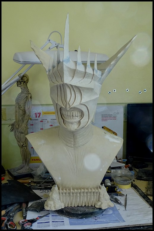 Mouth of Sauron lifesize bust (LOTR) Wip_2911
