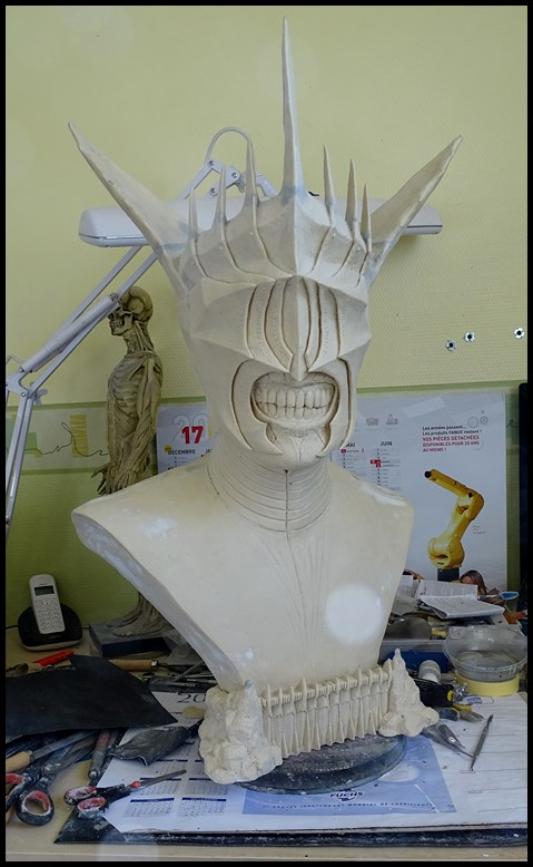 Mouth of Sauron lifesize bust (LOTR) Wip_3011