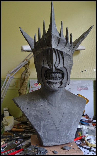 Mouth of Sauron lifesize bust (LOTR) Wip_910