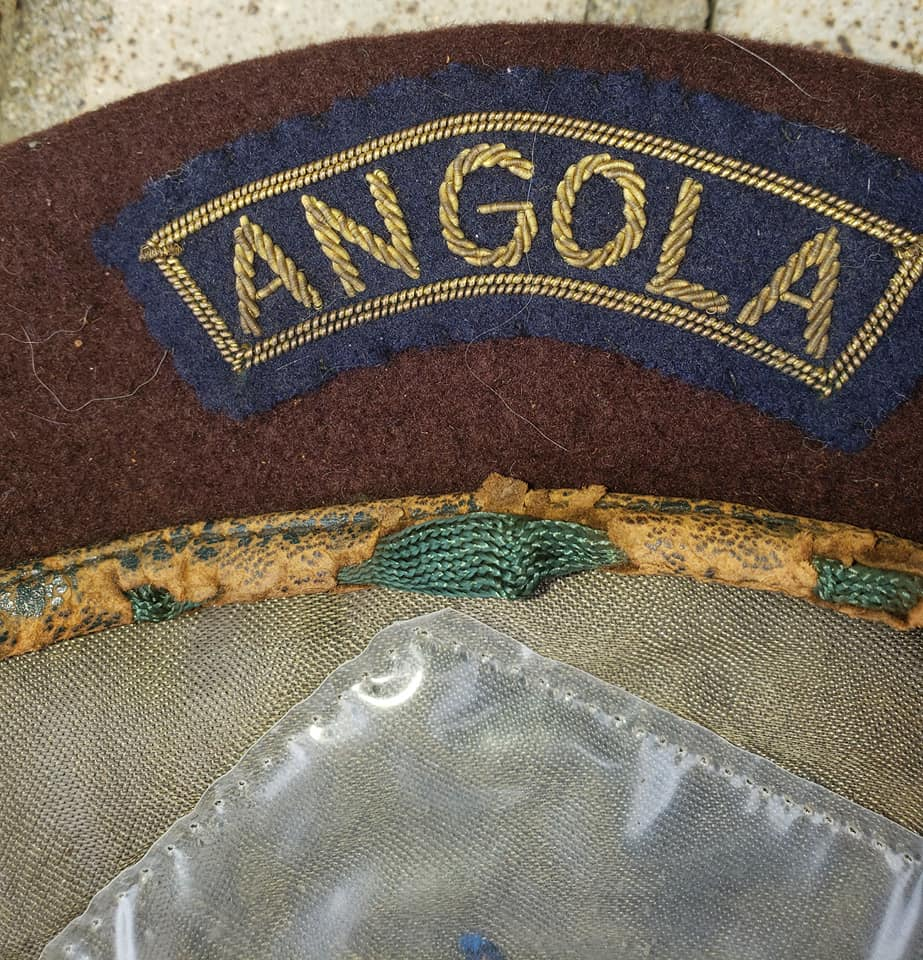 Portugese Brown Beret with Angola Tab 70711410