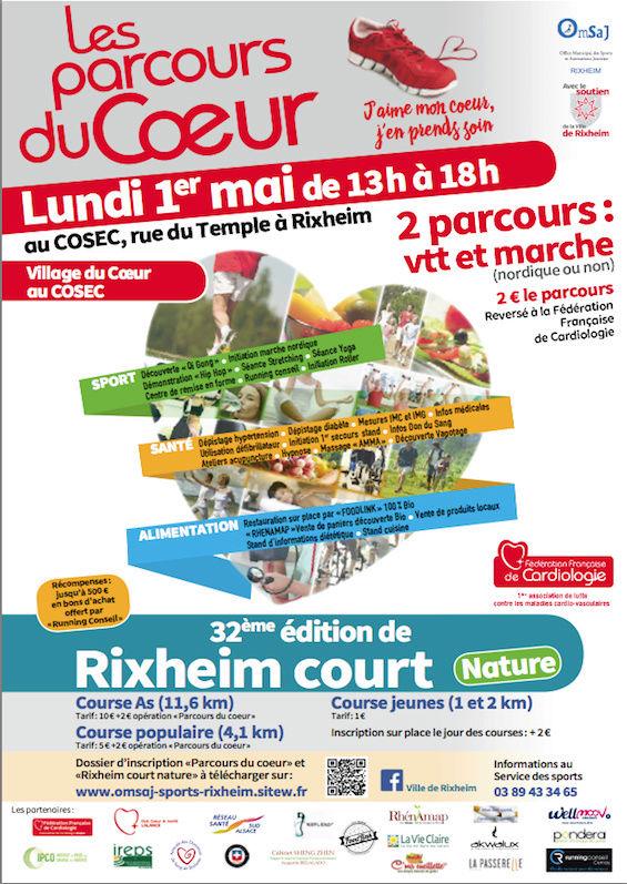 Les Parcours du Coeur à Rixheim le 01 mai Forum_10