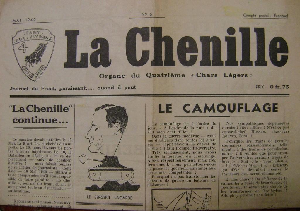 Journal interne du 4° BCC en mai 1940. Dsc01711