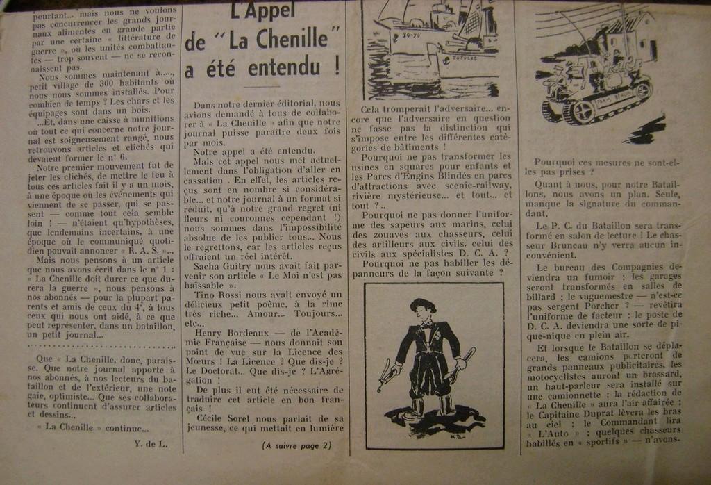 Journal interne du 4° BCC en mai 1940. Dsc01712