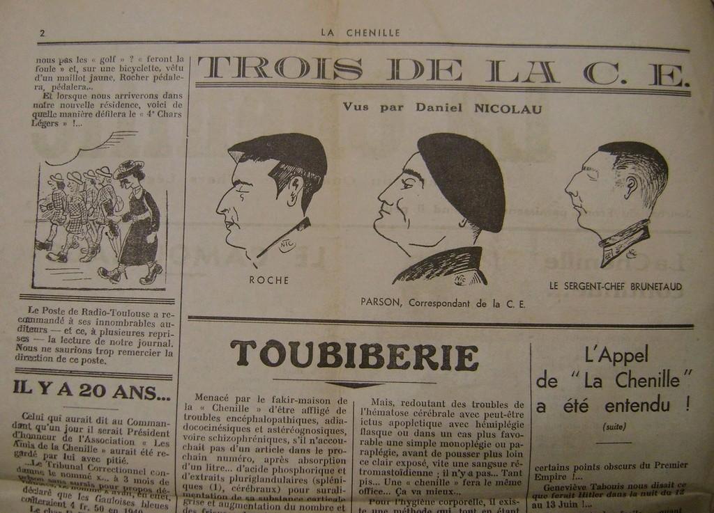 Journal interne du 4° BCC en mai 1940. Dsc01713
