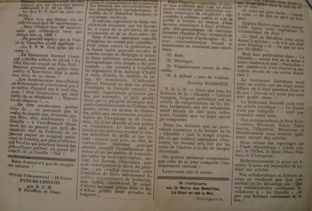 Journal interne du 4° BCC en mai 1940. Dsc01714