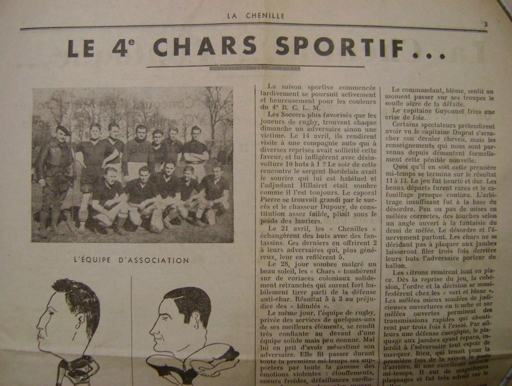 Journal interne du 4° BCC en mai 1940. Dsc01715