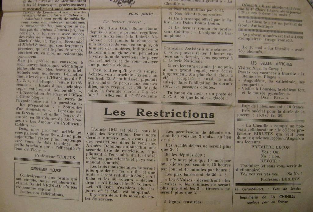 Journal interne du 4° BCC en mai 1940. Dsc01718