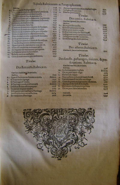 Lois et coutumes de la Franche Comté de Bourgogne au XVII°. Dsc08826