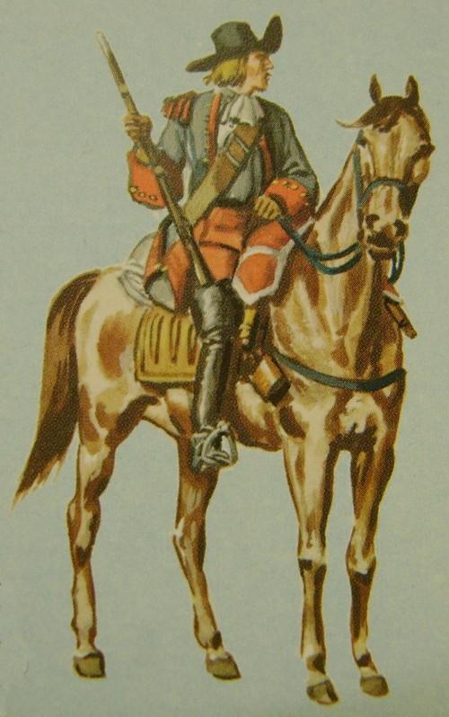 Billet de logement de cavaliers du régiment Commissaire Général en 1667. Dsc09147