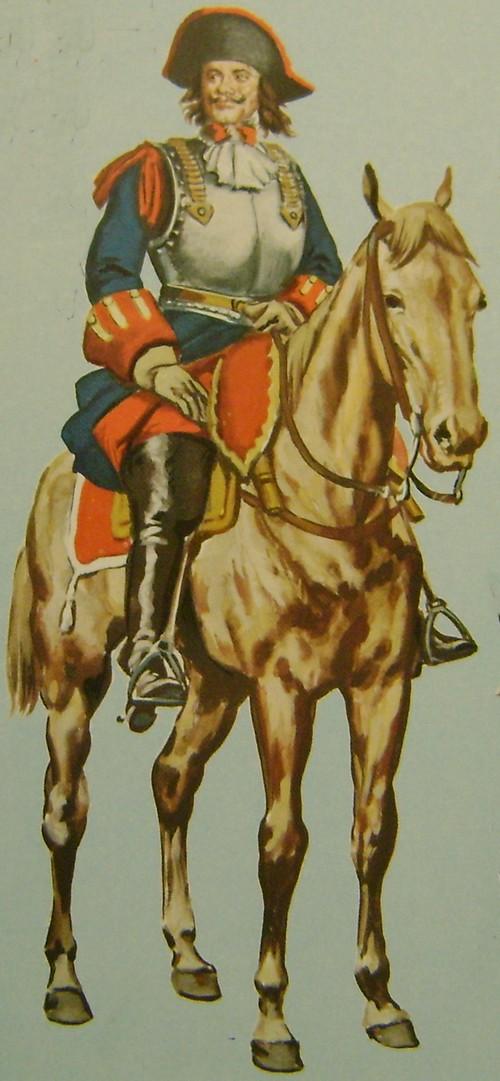 Billet de logement de cavaliers du régiment Commissaire Général en 1667. Dsc09149