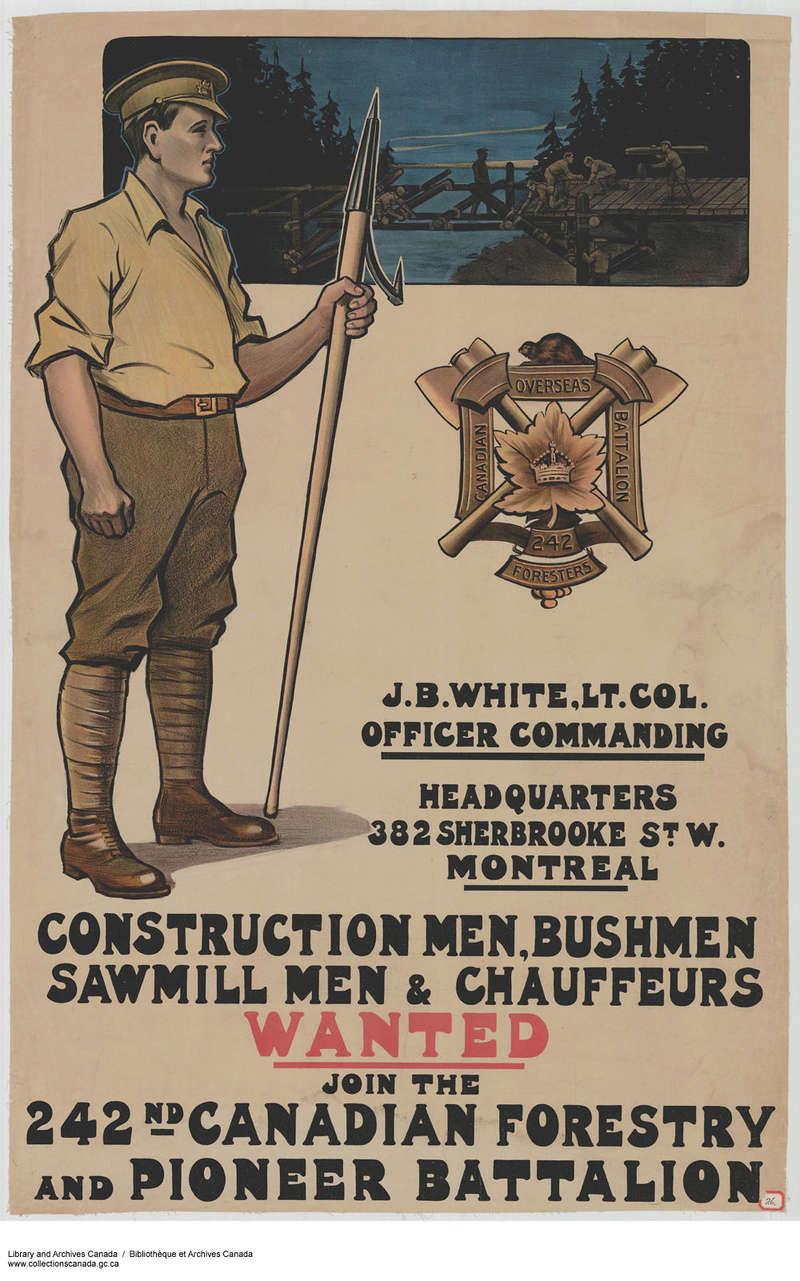 Corps forestier canadien E0106910