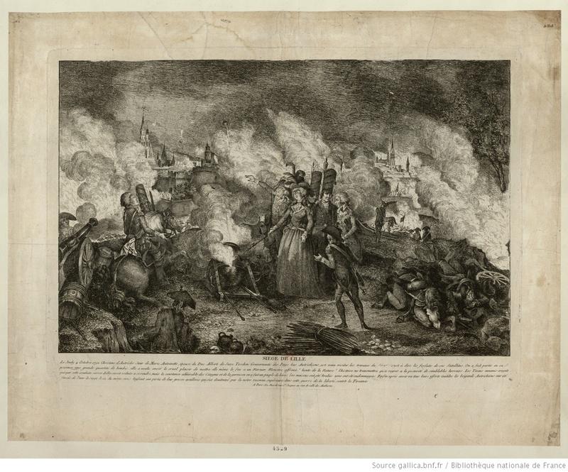 gravure d'époque sur le siege de Lille de 1792 Siege_10