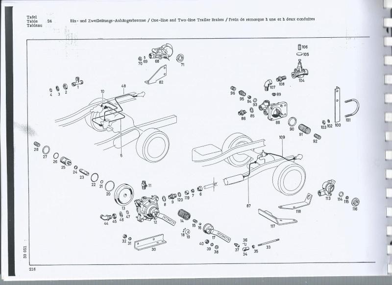 montage système de freinage pneumatique pour remorque sur 406 Freina10