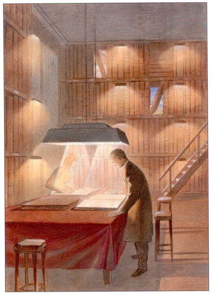 """Les """"livres perdus"""" de François Schuiten Maison13"""
