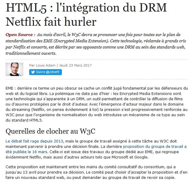 HTML5 : l'intégration du DRM Netflix fait hurler 2017-014