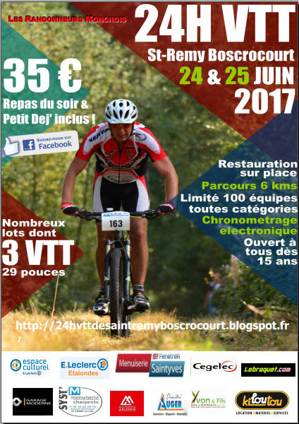 24h VTT DE SAINT RMY BOSCROCOURT 76260 Affich10